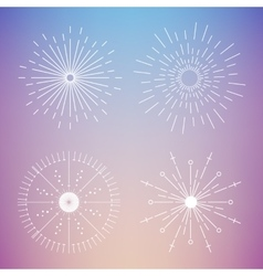 Abstract Creative concept icon of sunbursts vector image