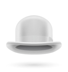 White bowler hat vector