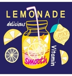 Graphic bright lemonade vector