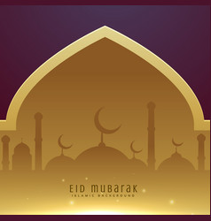 Beautiful muslim eid festival greeting design vector