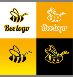 Bee logo and icon vector