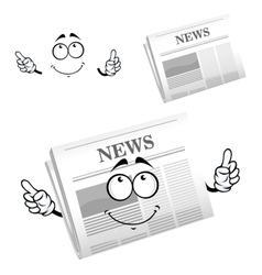 Cartoon weekly newspaper with header vector image vector image