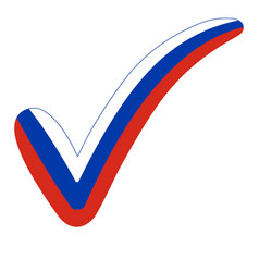 Check mark style russia flag elections voting vector