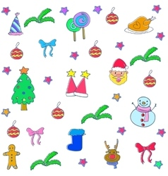 Christmas backgrounds element of doodle vector image