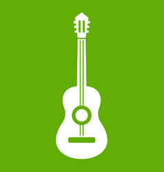 classical guitar icon green vector image vector image