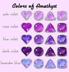 colors of amethyst vector image vector image