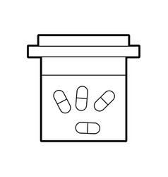 Container pills pharmacy medicine healthcare vector
