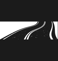 curved asphalt road going to the distance vector image