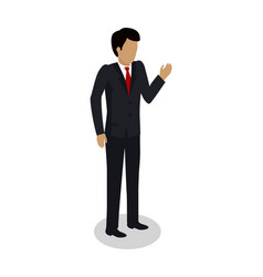 Dock worker foreman manager in expensive suit vector