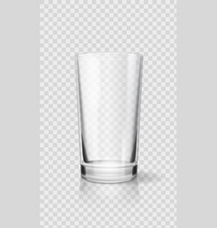 empty realistic drinking glass cup transparent vector image vector image
