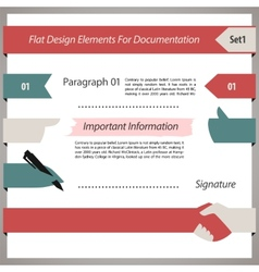 Flat Design Elements For Documentation Set1 vector image vector image