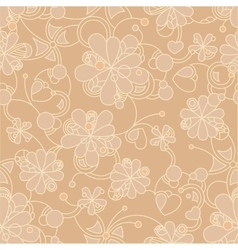 Floral seamless background - pattern for vector image vector image