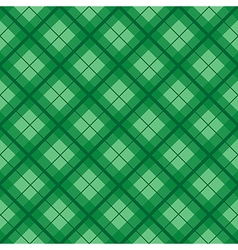 Green Tartan Diamond Background vector image vector image