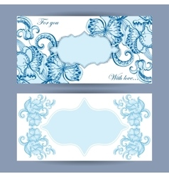 Greeting card with sketchy ornament vector image vector image