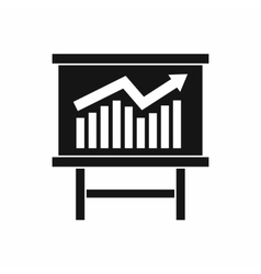 Growing chart presentation icon simple style vector