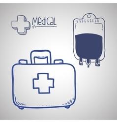 Medical care design sketch icon Flat vector image