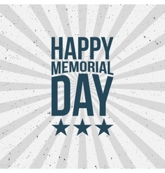 Memorial day type on striped grunge background vector