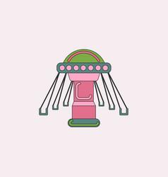 Merry-go-round icon vector