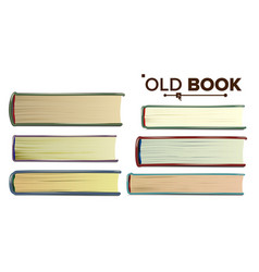 old book paper book in cover isolated vector image
