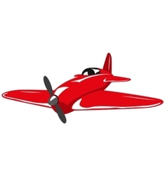 Red plane vector image