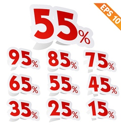 Sale percent sticker tag - - EPS10 vector image vector image