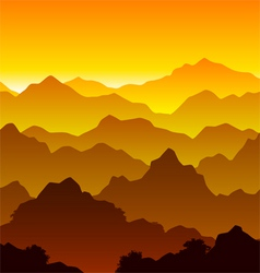 Seamless mountain landscape vector