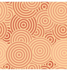 Seamless with red concentric circles vector image