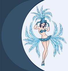 Smiling cabaret ot burlesque dancer posing vector