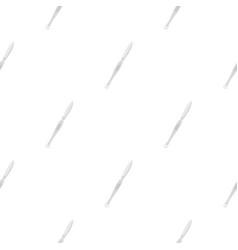 Steel scalpel pattern flat vector