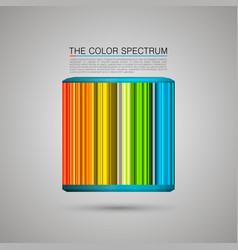 the color spectrum vector image vector image