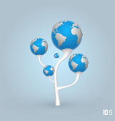 tree of the planets earth vector image vector image
