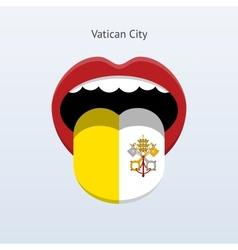 Vatican city language abstract human tongue vector