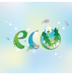 Eco the sky and dandelion vector