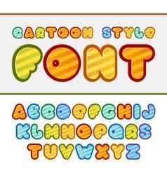 Colorful cartoon font cute alphabet baby vector
