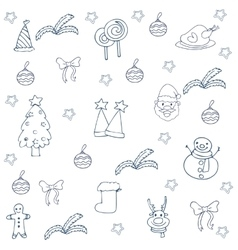 Doodle of christmas flat hand draw vector