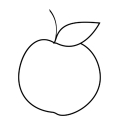 Apple icon outline style vector