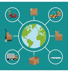 delivery concept global logistic cargo vector image