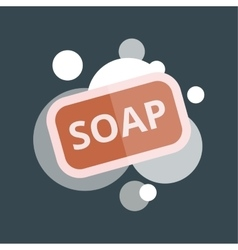 Soap with bubbles vector