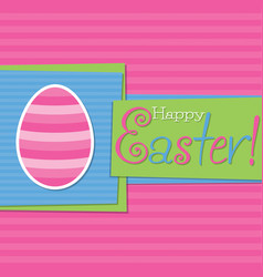 funky easter egg card in format vector image