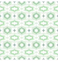 Pattern with arabic motifs in cool mint green vector