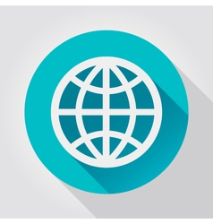 Earth Globe icon flat design vector image