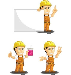 Industrial construction worker mascot 6 vector
