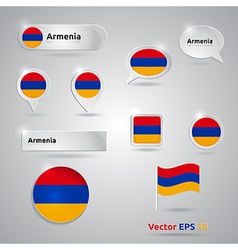 Armenia icon set of flags vector