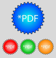Pdf file document icon download pdf button pdf vector