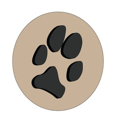 3d dogs paw vector
