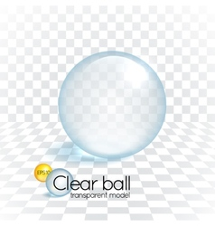 Clear glass transparency sphere vector