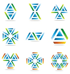 Logo all sales blue abstract symbol vector