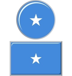 Somali round and square icon flag vector image