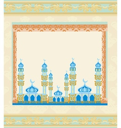 ramadan kareem festival frame vector image