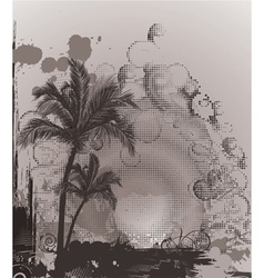 summer poster with palm trees vector image